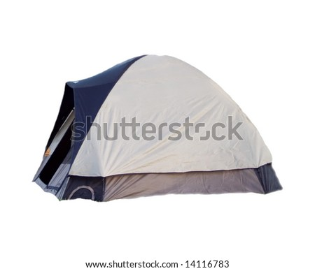 Isolated tent on white