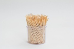 Isolated toothpick on white background