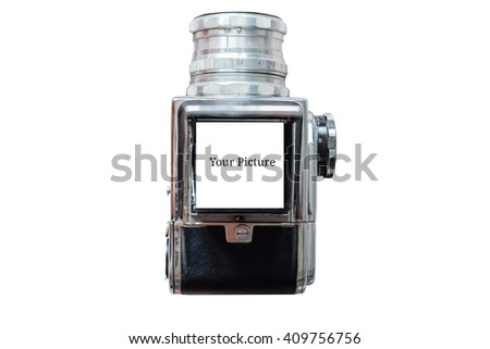 Isolated Top View of Medium Format Camera