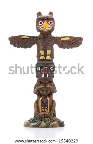Isolated Totem Pole Statue