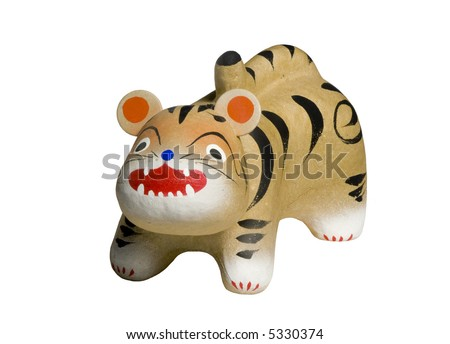 Isolated toy tiger