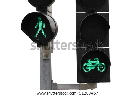 isolated traffic lights