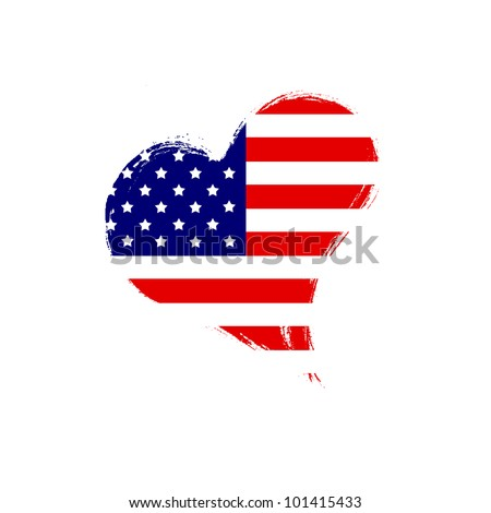 Isolated USA heart.