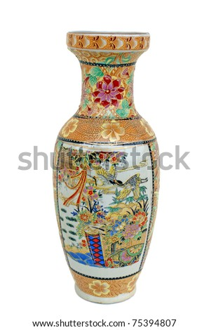 isolated vase on white