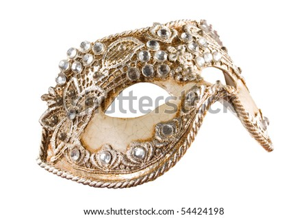 Isolated Venetian Mask with Clipping Path