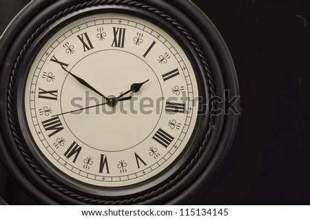 Isolated Vintage Clock/Vintage Clock/Antique clock with roman numerials