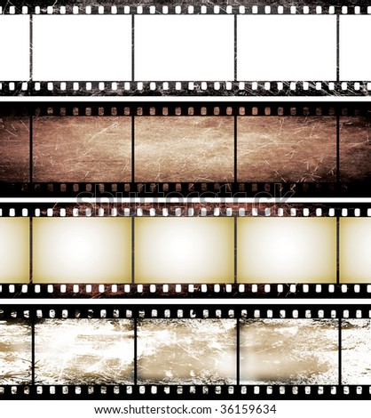 isolated vintage film frame collection