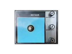 Isolated vintage octave stomp box effect on white background with work path.