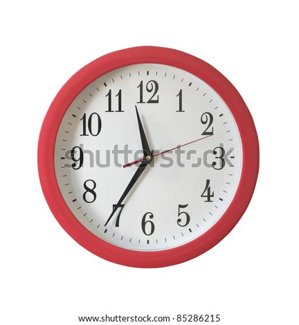 Isolated wall clock on white background