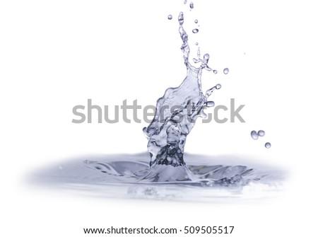 Isolated Water Splash - Shutterstock ID 509505517