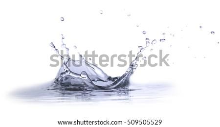 Isolated Water Splash - Shutterstock ID 509505529
