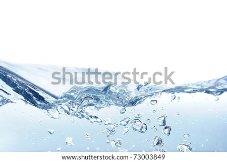 isolated water wave