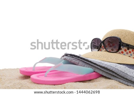 isolated white beach accessories and accessories