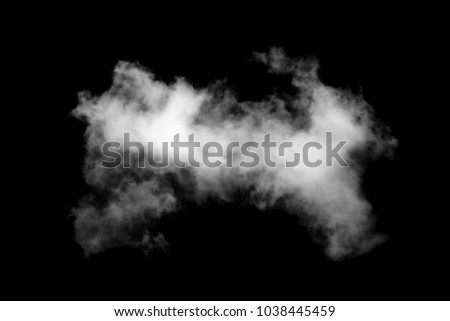 isolated white cloud on black...
