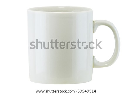 Isolated White Cup (with clipping path) #59549314