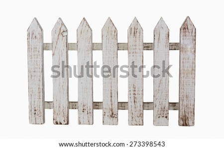isolated white picket fence.
