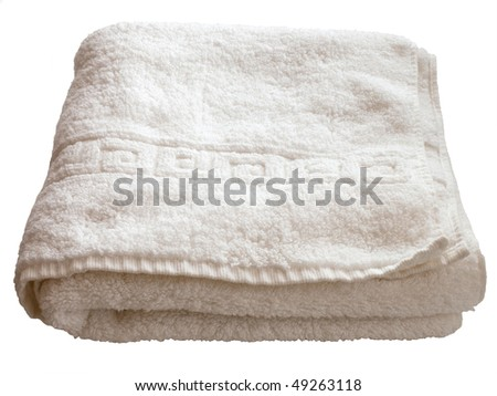 isolated white towel