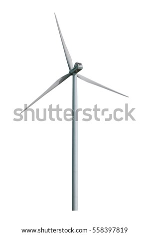 isolated windmill, energy device on white background
