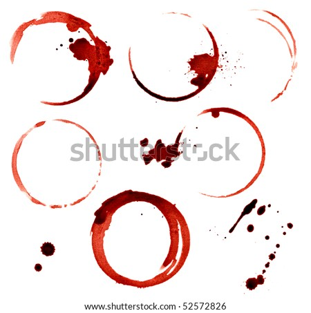 isolated wine stains