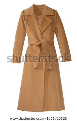isolated women's long coat Foto d'archivio ©