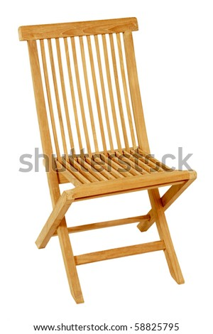 isolated  wood chair  as a living room furniture