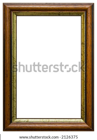 Isolated wooden frame. Wooden frame isolated on white background