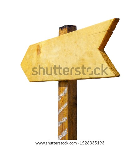 isolated wooden Signposts with Success. place for text