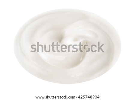 isolated yogurt cream swirl