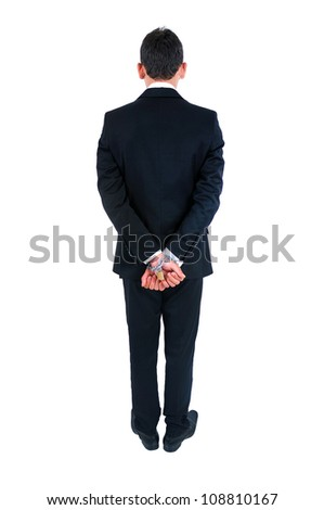 Isolated young business man tied