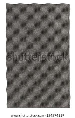 Isolation foam panel on white background