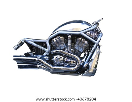 Isolation of a motorcycle engine
