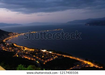 Isparta Egirdir Lake Green Island, Turkey Stok fotoğraf ©
