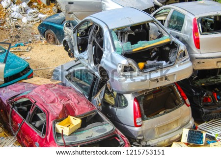 Israel: Car scrapyard, Abandoned Cars, Car dump, Scrap vehicles, Vehicle Recycling