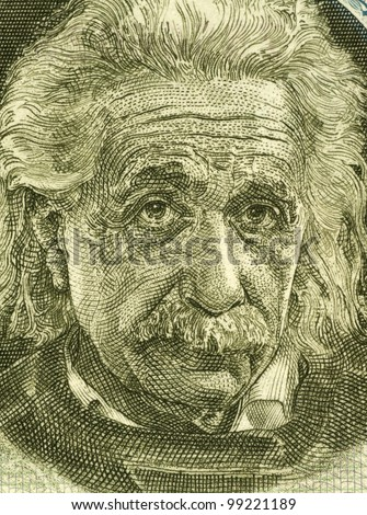 ISRAEL CIRCA 1968 Albert Einstein 1879-1955 on 5 Pounds 1968 Banknote from Israel German born theoretical physicist regarded as the father of modern physics.