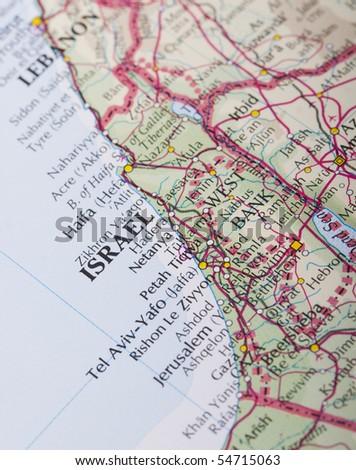 Israel map - stock photo