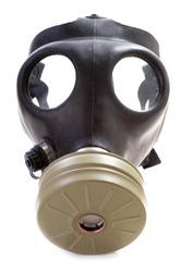Israeli gas mask on white background