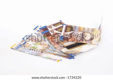 Israeli  Shekels currency banknotes