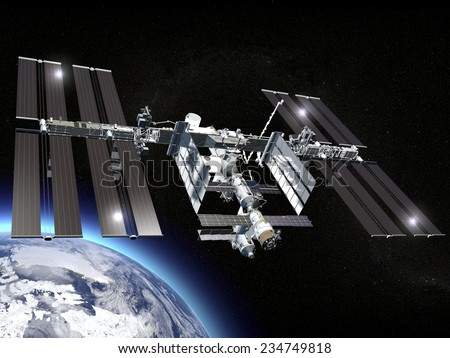ISS, International Space Station, earth, space. Elements of this image are furnished by NASA