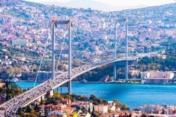 Istanbul Bosphorus Bridge. 15th July Martyrs Bridge. Istanbul / Turkey.