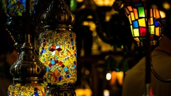 Istanbul Lantern Moroccan Lighting, Moroccan Lamp. Moroccan Style.Unique . Moroccan Lanterns and Lamps. Turkish Lanterns and Lamps.Colorful lanterns. lamps for sale in the Grand Bazaar