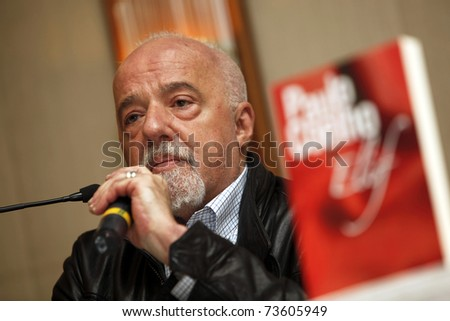 ISTANBUL - MARCH 19: Brazilian writer Paulo Coelho at press conference to promote his new book Elif, March 19, 2011 in Istanbul,Turkey