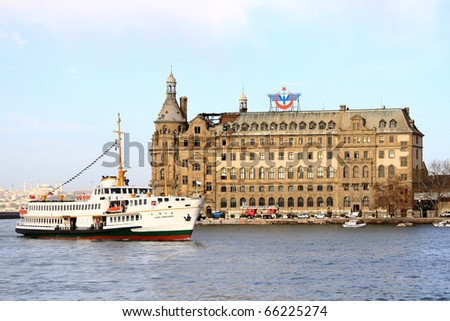 ISTANBUL - NOVEMBER 29:  Fire severely damages Haydarpasa Central Station on November 29, 2010 in Istanbul. Built by Sultan Abdulhamid in 1908 as the starting point of the Istanbul-Baghdad railroad