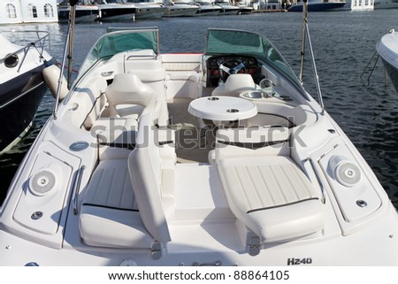 stock photo : ISTANBUL - OCTOBER 22: Deck of Fourwinns H240 boat during 30th ...