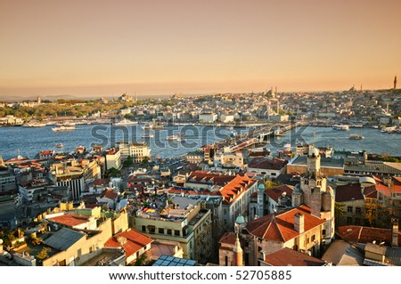 Istanbul Panorama - stock photo