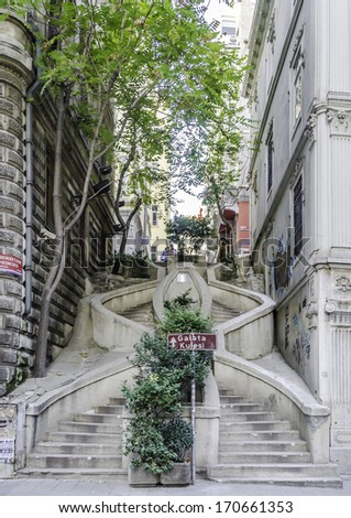 Istanbul's Camondo Stairs in Galata were a public service project donated by the Camondos, a wealthy Istanbul Jewish family. The stairs climb the hill from the Galata docks and Avenue of the Banks