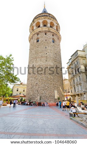 ISTANBUL - SEPTEMBER 10: Galata tower in Istanbul on September 10, 2010 in Istanbul, Turkey. The tower was built as Christea Turris in 1348 during an expansion of the Genoese colony in Constantinople.