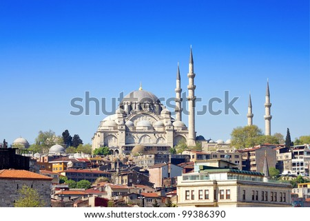 Istanbul Suleymaniye Mosque built by Suleiman the Magnificent