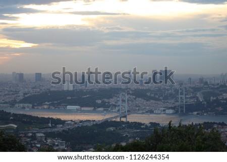 Istanbul - Türkiye: Bosphorus views and buildings. #1126244354