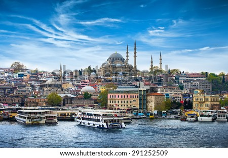 Istanbul the capital of Turkey, eastern tourist city.
