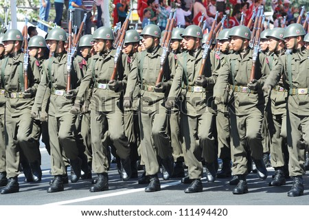 ISTANBUL, TURKEY - AUGUST 30: August 30th âVictory Day was celebrated with an official ceremony and military parades at Vatan Street, Istanbul on August 30, 2012 in Istanbul, Turkey.